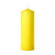 Yellow 3 x 9 Unscented Pillar Candles