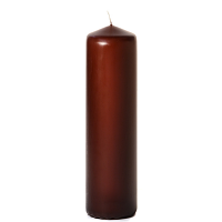 Brown 3 x 12 Unscented Pillar Candles
