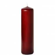 Burgundy 3 x 12 Unscented Pillar Candles