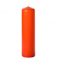 Burnt orange 3 x 12 Unscented Pillar Candles