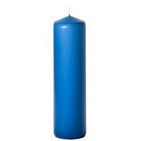 Colonial blue 3 x 12 Unscented Pillar Candles