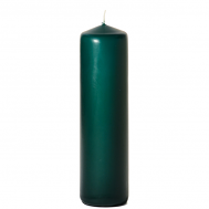 Hunter green 3 x 12 Unscented Pillar Candles