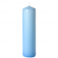 Light blue 3 x 12 Unscented Pillar Candles