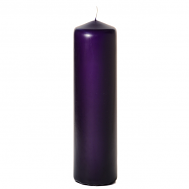Lilac 3 x 12 Unscented Pillar Candles