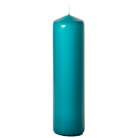 Mediterranean blue 3 x 12 Unscented Pillar Candles
