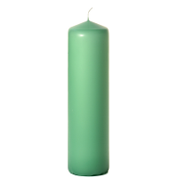 Mint green 3 x 12 Unscented Pillar Candles