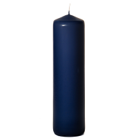 Navy 3 x 12 Unscented Pillar Candles