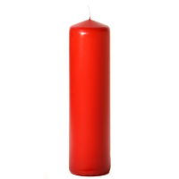 Red 3 x 12 Unscented Pillar Candles