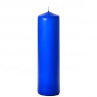 Royal blue 3 x 12 Unscented Pillar Candles