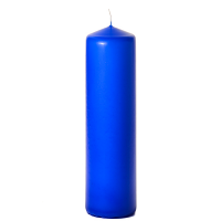 Royal blue 3 x 12 Unscented Pillar Candles