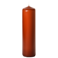 Terracotta 3 x 12 Unscented Pillar Candles