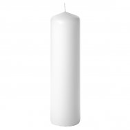 White 3 x 12 Unscented Pillar Candles