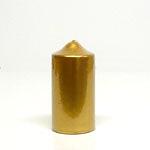 3 x 6 Metallic Gold Pillar Candles