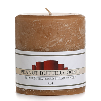 Textured Peanut Butter Cookie 4 x 4 Pillar Candles
