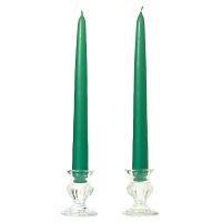 8 Inch Forest Green Taper Candles Dozen