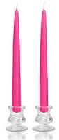 12 Inch Hot Pink Taper Candles Dozen