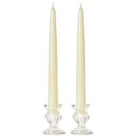 12 Inch Ivory Taper Candles Dozen