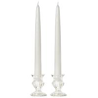 8 Inch White Taper Candles Dozen