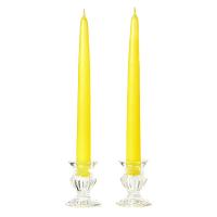 12 Inch Yellow Taper Candles Dozen