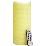 Honeycomb 4 x 10 Remote Control Pillar Candles