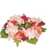 Silk Hydrangea Pale Pink 6.25 Inch Ring