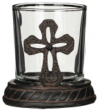Cross Candle Holder 2 pc. Set