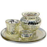 Gold Candle Holder 4 Piece Set