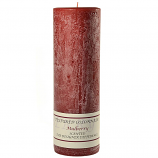 Textured Mulberry 3 x 9 Pillar Candles