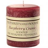 Rustic Raspberry Cream 3 x 3 Pillar Candles