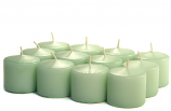 Unscented Mint green Votive Candles 15 Hour
