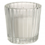 Short Ribbed Votive Candle Holder