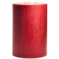 6 x 9 Raspberry Cream Pillar Candles