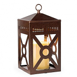 Mission Lantern Candle Warmer Rustic Brown