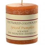 Rustic Spiced Pumpkin 3 x 3 Pillar Candles
