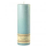 Textured Blue Lagoon 3 x 9 Pillar Candles