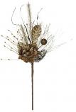Pine Hydrangea Pick Brown 20 Inch
