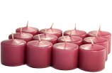 Unscented Mauve Votive Candles 10 Hour