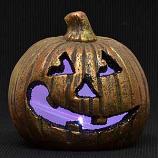 Baffled LED Jack O Lantern
