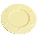 Tin Charger Plates 6 Inch Ivory