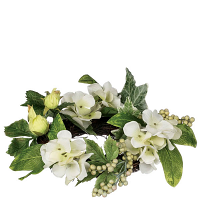 Hydrangea Berry Candle Ring 4.5 Inch