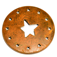 Rust Star Jar Capper
