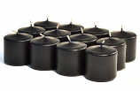 Unscented Black Votive Candles 15 Hour