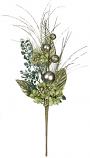 Pine Hydrangea Pick Green 19 Inch