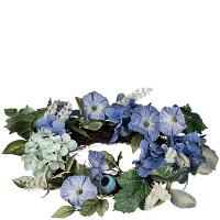Hydrangea Petunia Candle Ring 6.5 Inch
