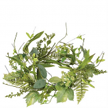 Foliage and Berry 6.5 Inch Candle Ring
