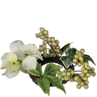 Hydrangea Berry Candle Ring 1.5 Inch