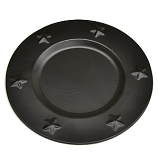 Tin Charger Plates 6 Inch Black