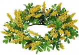Berry and Greens Yellow 6.5 Inch Candle Ring