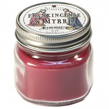 Frankincens and Myrrh Mason Jar Candle Half Pint