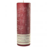 Textured Raspberry Cream 3 x 9 Pillar Candles